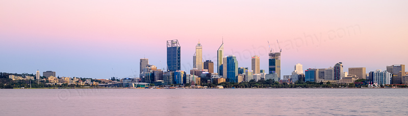 Perth and the Swan River at Sunrise, 28th January 2015