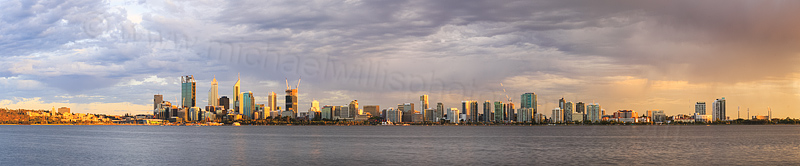 Perth and the Swan River at Sunrise, 30th January 2015