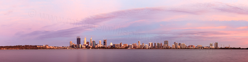 Perth and the Swan River at Sunrise, 31st January 2015