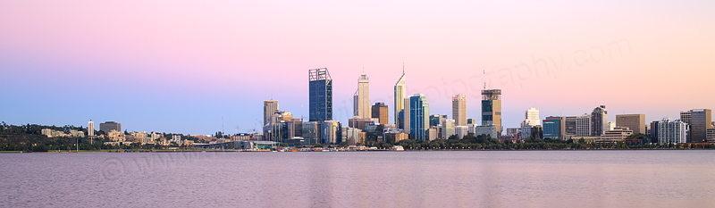 Perth and the Swan River at Sunrise, 28th February 2015