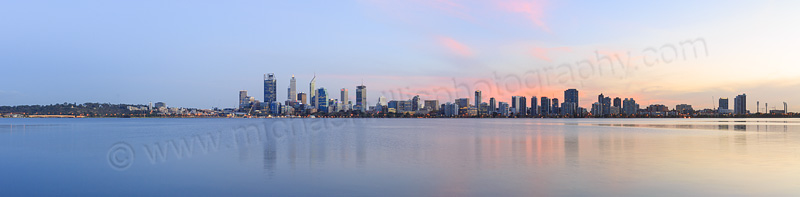 Perth and the Swan River at Sunrise, 1st May 2015