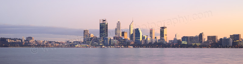 Perth and the Swan River at Sunrise, 5th May 2015