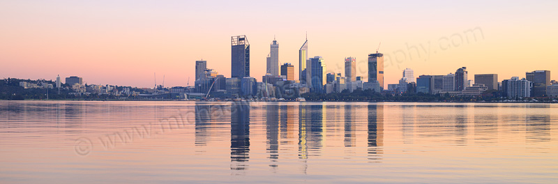 Perth and the Swan River at Sunrise, 8th May 2015