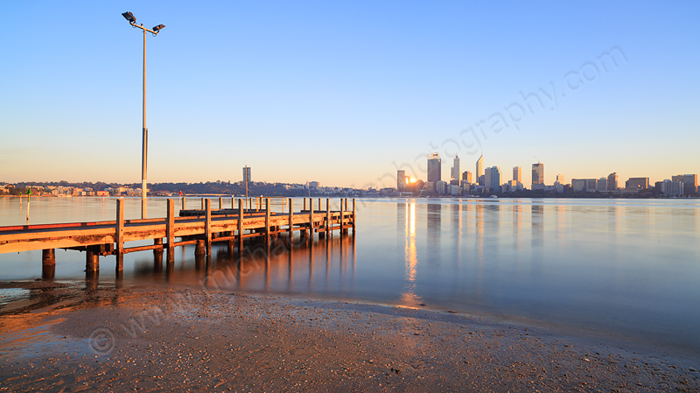 Perth and the Swan River at Sunrise, 11th May 2015
