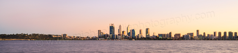Perth and the Swan River at Sunrise, 13th May 2015