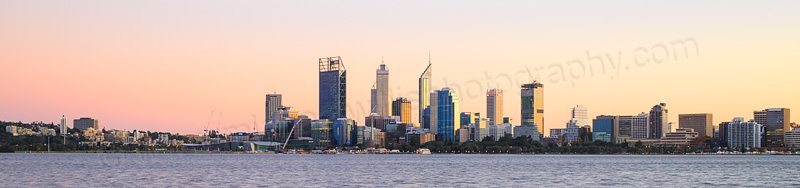 Perth and the Swan River at Sunrise, 14th May 2015