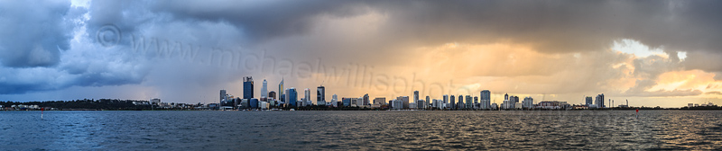 Perth and the Swan River at Sunrise, 17th May 2015