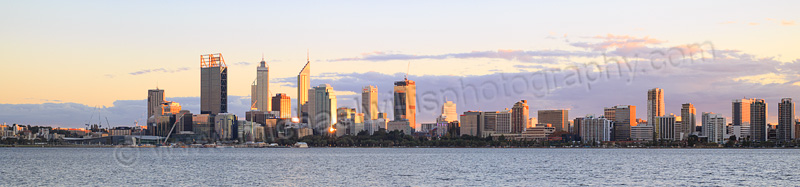 Perth and the Swan River at Sunrise, 21st May 2015