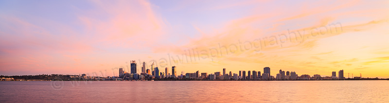 Perth and the Swan River at Sunrise, 22nd May 2015