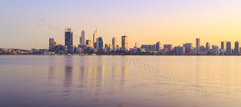Perth and the Swan River at Sunrise, 23rd May 2015