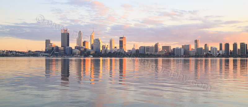 Perth and the Swan River at Sunrise, 25th May 2015