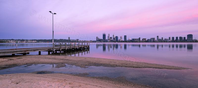 Perth and the Swan River at Sunrise, 1st November 2015
