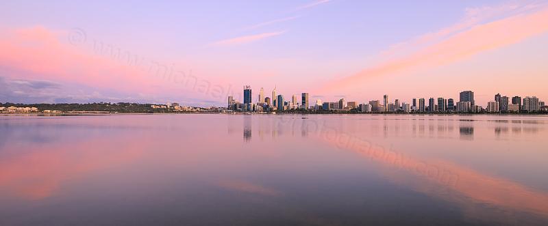 Perth and the Swan River at Sunrise, 5th November 2015