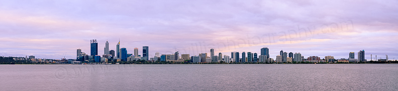 Perth and the Swan River at Sunrise, 7th November 2015