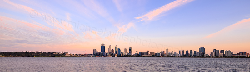 Perth and the Swan River at Sunrise, 10th November 2015