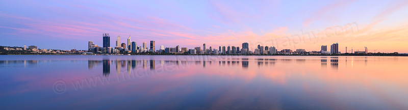 Perth and the Swan River at Sunrise, 12th November 2015