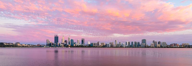 Perth and the Swan River at Sunrise, 13th November 2015
