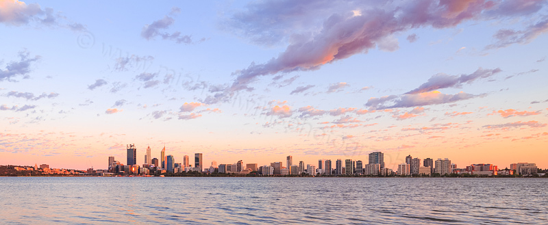 Perth and the Swan River at Sunrise, 14th November 2015