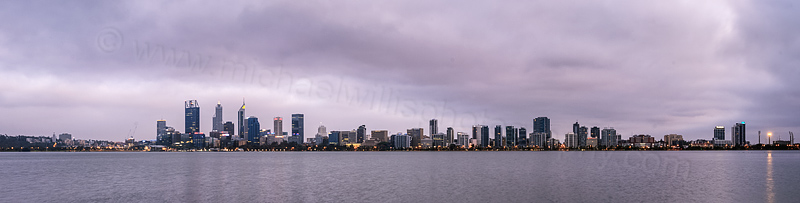 Perth and the Swan River at Sunrise, 15th November 2015