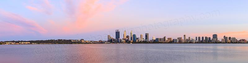 Perth and the Swan River at Sunrise, 28th November 2015