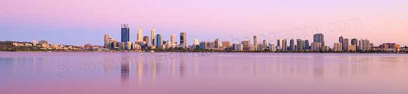 Perth and the Swan River at Sunrise, 30th November 2015