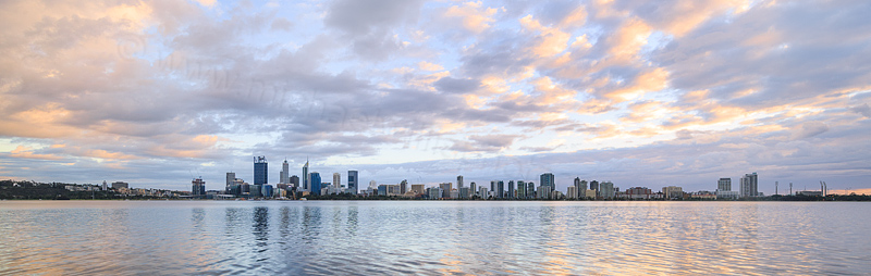 Perth and the Swan River at Sunrise, 5th June 2016