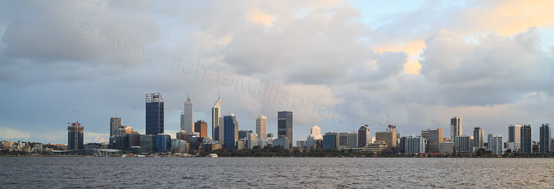 Perth and the Swan River at Sunrise, 8th August 2016