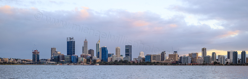 Perth and the Swan River at Sunrise, 9th August 2016