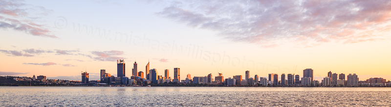 Perth and the Swan River at Sunrise, 16th August 2016