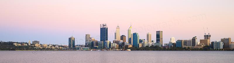 Perth and the Swan River at Sunrise, 8th November 2016