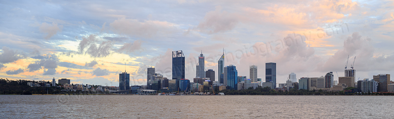 Perth and the Swan River at Sunrise, 16th November 2016