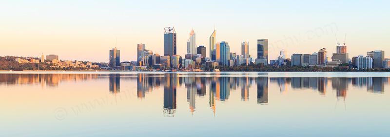 Perth and the Swan River at Sunrise, 19th November 2016