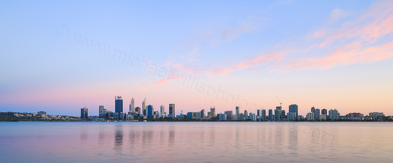 Perth and the Swan River at Sunrise, 2nd December 2016