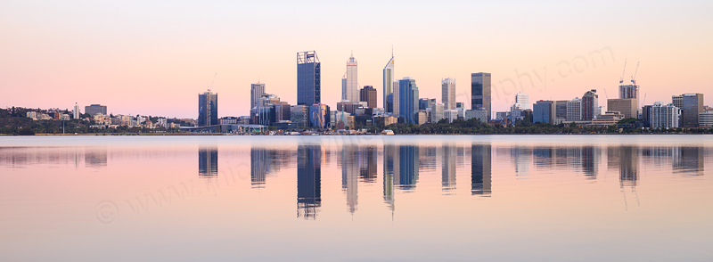Perth and the Swan River at Sunrise, 6th December 2016