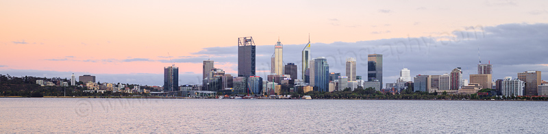 Perth and the Swan River at Sunrise, 13th December 2016