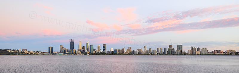 Perth and the Swan River at Sunrise, 16th December 2016