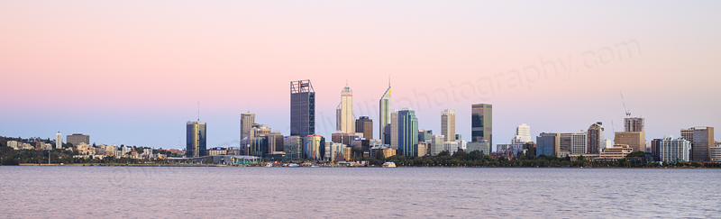 Perth and the Swan River at Sunrise, 17th December 2016