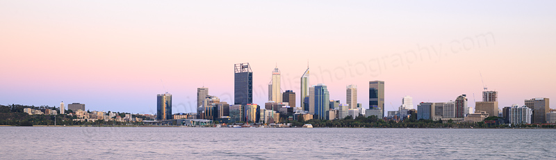 Perth and the Swan River at Sunrise, 21st December 2016