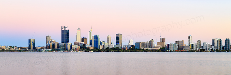 Perth and the Swan River at Sunrise, 23rd December 2016