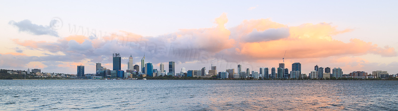 Perth and the Swan River at Sunrise, 27th December 2016