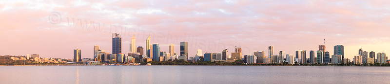Perth and the Swan River at Sunrise, 28th December 2016