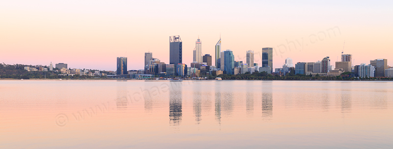 Perth and the Swan River at Sunrise, 30th December 2016