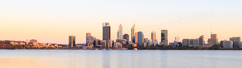 Perth and the Swan River at Sunrise, 10th January 2017