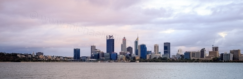 Perth and the Swan River at Sunrise, 12th January 2017
