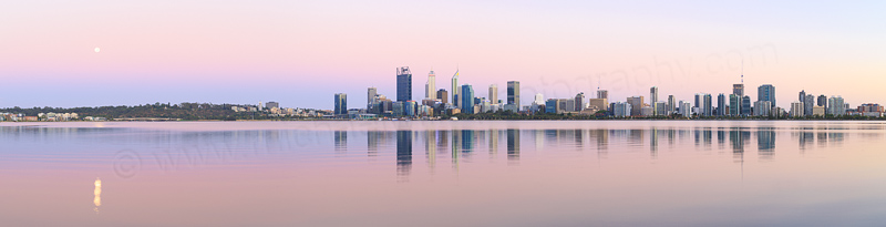 Perth and the Swan River at Sunrise, 13th January 2017