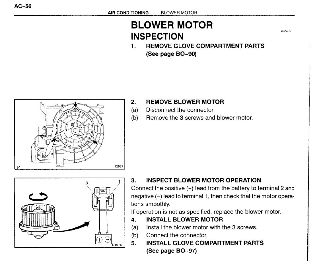 2005 Avalon Limited Hvac Blower Motor Only Comes On Occasionally Resistor The Next Page How Works Report This Image