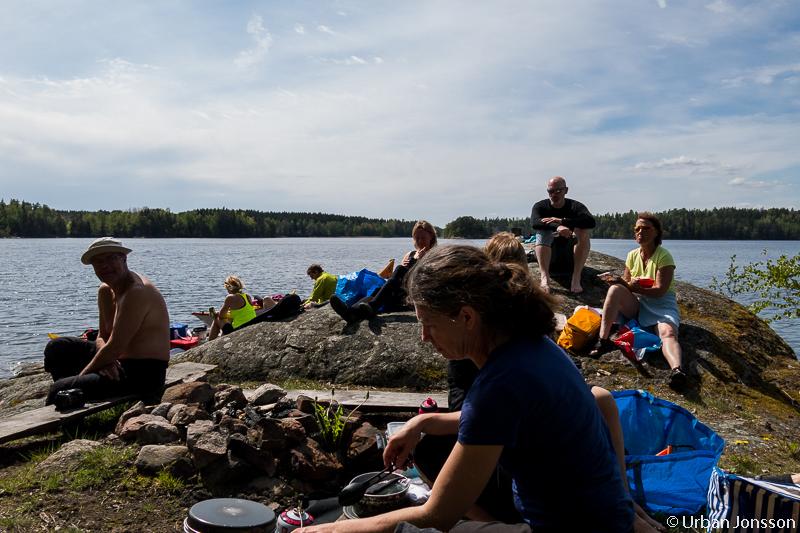 Vid lunch hittade vi den andra gruppen på en klippa.