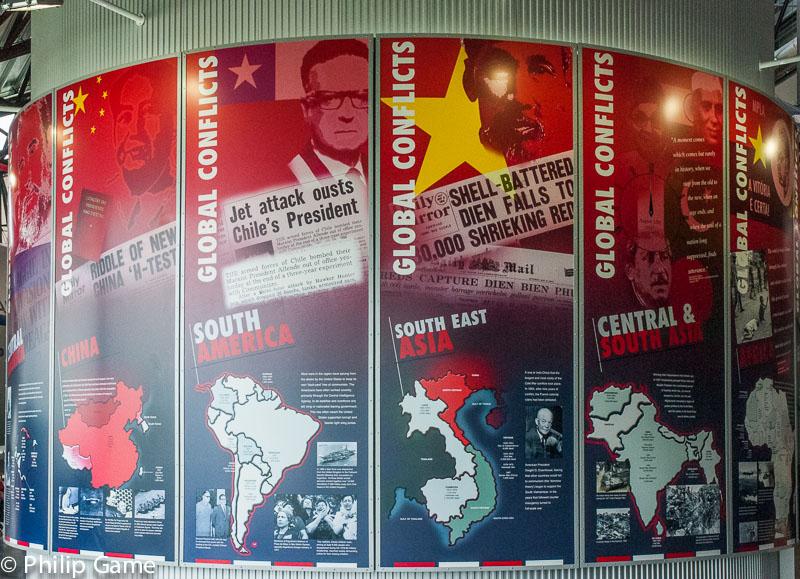 Interpretative panels at the National Cold War Exhibition
