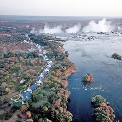 The Royal Livingstone Hotel on the edge of Victoria Falls (their website photo)