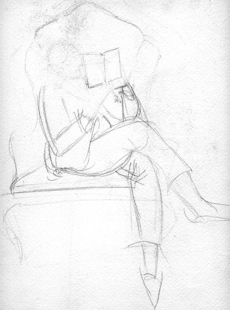 Gordon sketch of Ashley Wetherhead Smith